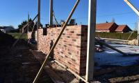 Élévation brique et parement